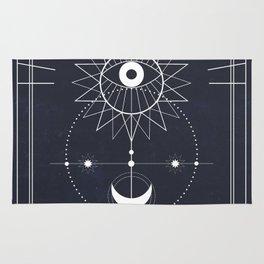 Le Soleil or The Sun Tarot Rug