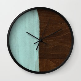 Seafoam Blue Paint on Wood Wall Clock