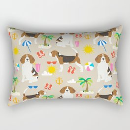 Beagles beagle pattern beach classic socal dog breed pattern palm trees tropical Rectangular Pillow