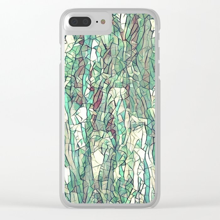 Abstract green Clear iPhone Case