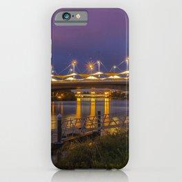 Spain Penalosa Andalusia bridge Rivers Marinas night time Street lights Cities Bridges Pier river Berth Night iPhone Case