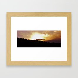 Sunset in Divide Framed Art Print
