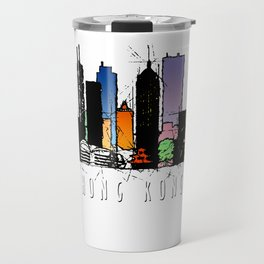 Hong Kong City Watercolor Travel Mug