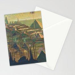 Allegro Egyptian Dynasty Pyramids landscape by by Mikalojus Konstantinas Čiurlionis Stationery Cards