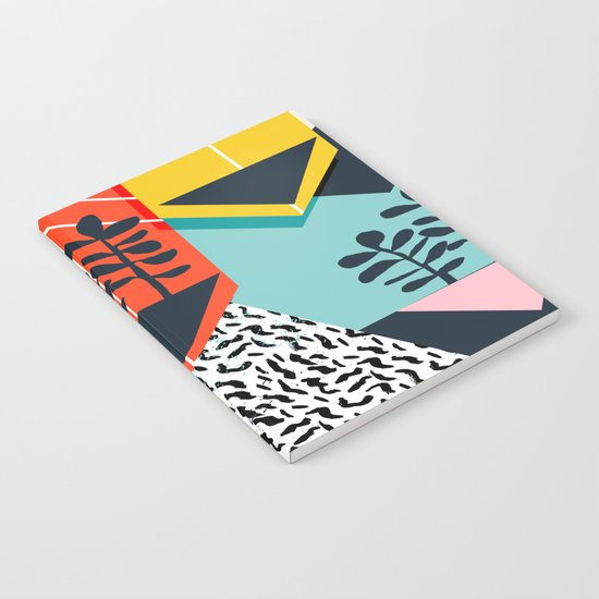 Legit - throwback 80s style memphis neon texture art print pop art dorm college hipster trendy urban Notebook