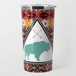 Navajo Buffalo Travel Mug