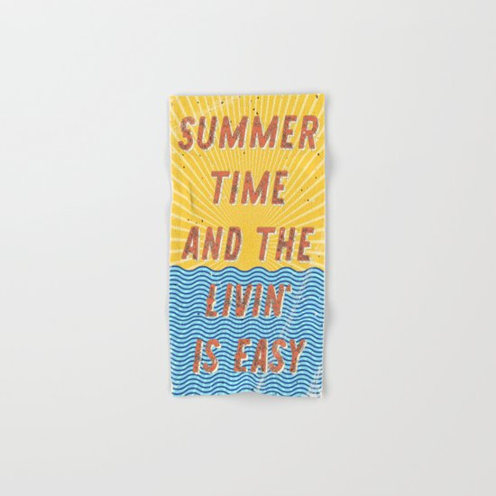 Summertime - A Hell Songbook Edition Hand & Bath Towel