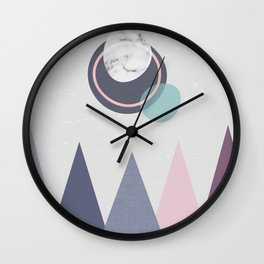 Abstract mountains Wall Clock