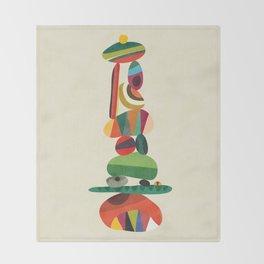 Totem - balanced pebbles Throw Blanket