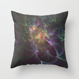Lazy Paint Splatters Throw Pillow