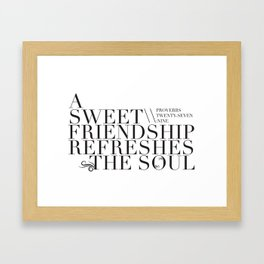 Sweet Friendship Framed Art Print