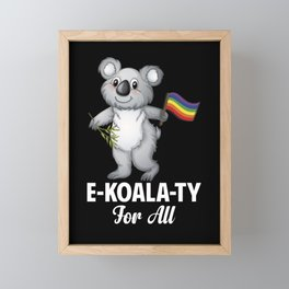 Rainbow Flag Koala For All Cute Gay Pride LGBT Framed Mini Art Print