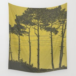 Art Nouveau Pines Wall Tapestry