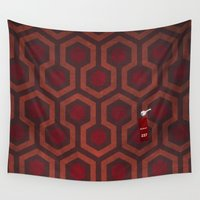 shining Wall Tapestries featuring the Shining Rug & Room 237  by avoid peril