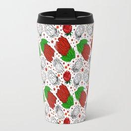 Australian native Floral Print - King Protea Pattern Travel Mug