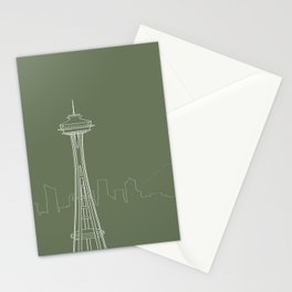 Seattle by Friztin Stationery Cards