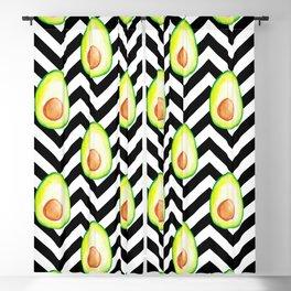 chevron avocado pattern Blackout Curtain