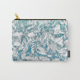 Bleached Coral/ Grey Leaves Carry-All Pouch