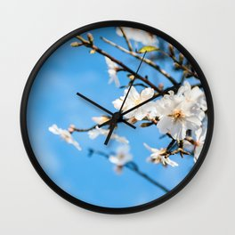 Spring Cherry trees Wall Clock