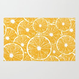 Orange slices pattern design Rug