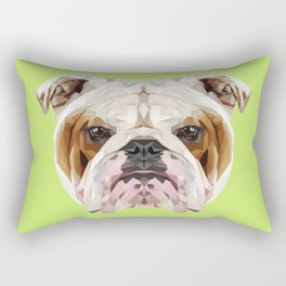 English Bulldog // Green Rectangular Pillow