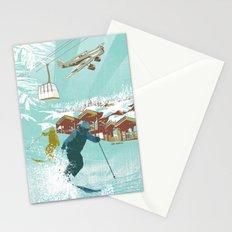 ski lift Stationery Cards