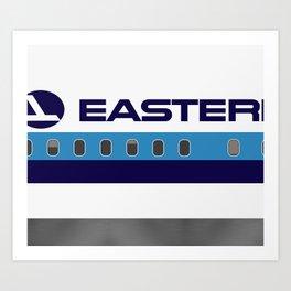 Plane Tees - Eastern Air Lines (White Top) Art Print