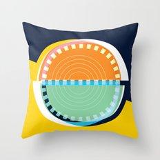 Semi Circle Circles Throw Pillow