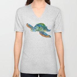 Sea Turtle 4 Unisex V-Neck