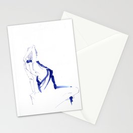 ...In a Blue Dress Stationery Cards