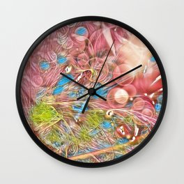 The Joy of Pink Wall Clock