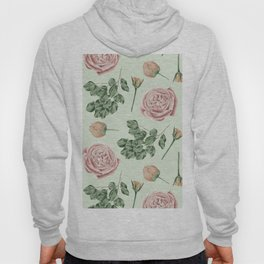 Rose Garden Delight Mint Green + Pink Hoody