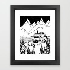 Camping With Dogs Framed Art Print