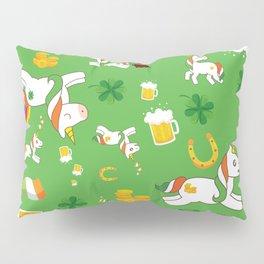 St. Patrick's Day Unicorn Pattern Pillow Sham
