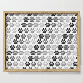 Paw Prints Pattern Serving Tray