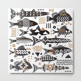 Boho Fishes Metal Print