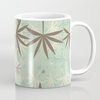1d Mugs featuring Leaves 1D by Patterns of Life
