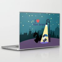 coraline Laptop & iPad Skins featuring Ernest and Coraline | I love New Jersey by Hisame Artwork