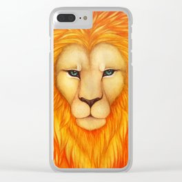 Solar King Clear iPhone Case