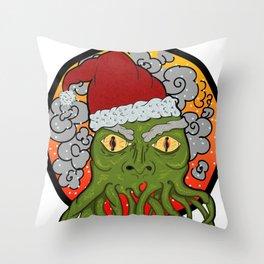 Cthulu Claus Throw Pillow