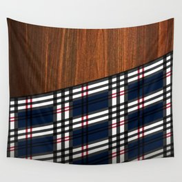 Wooden Scottish Tartan Wall Tapestry