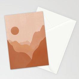 Boho Desert Mountain Landscape Stationery Cards