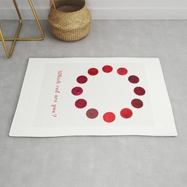 Red Pigments - Which red are you? Rug