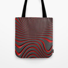 Organic Abstract 02 RED Tote Bag