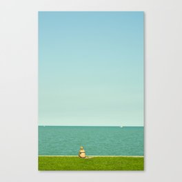 Sun Bathing in Color Canvas Print