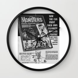 Printable Monsters Wall Clock