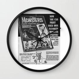 Printable Monsters Wall Clock