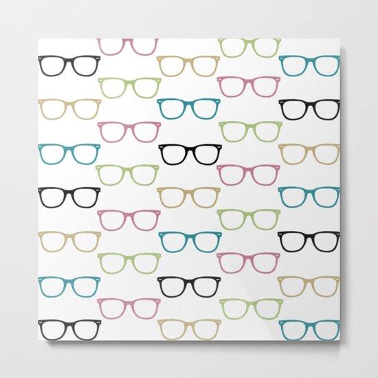 Funky Glasses Metal Print