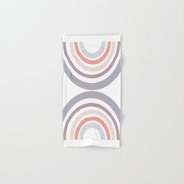 Modern Double Rainbow Hourglass in Muted Earth Tones Hand & Bath Towel