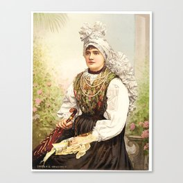 Romanian Gypsy girl Canvas Print